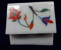 Floral Arts Marble Jewelry Box