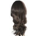 Black Golden Medium Light Curly Hair Wig