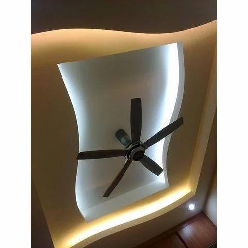 Brown White Home False Ceiling Work Fine Living Furniture