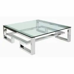 Stainless Steel Glass Center Table