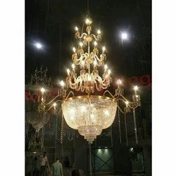 Gold Duplex Chandelier