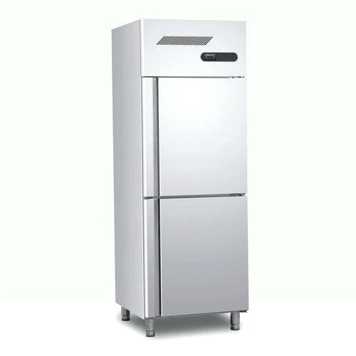 Stainless Steel Silver Two Door Refrigerator
