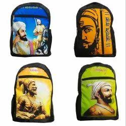 Polyester Black Shivaji 1000 Denier Laptop Backpack, Size: 20''x14x6