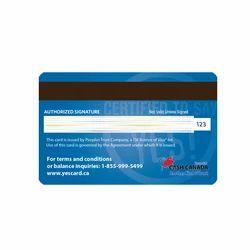 PVC Magnetic Stripe ATM Card