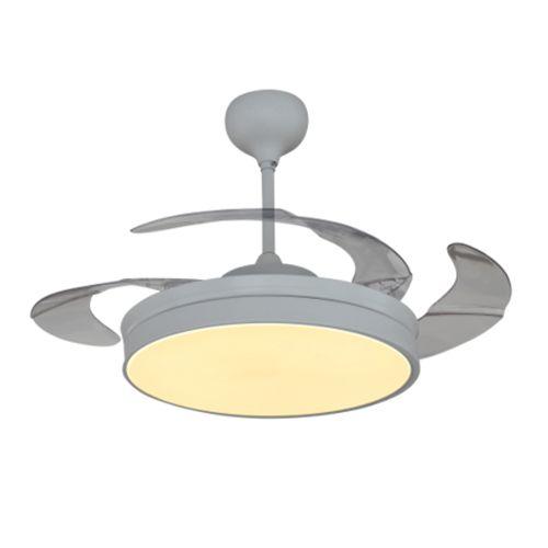 Matt White Fanzart Venus Modern High Tech Ceiling Fan
