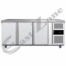 Elanpro Three 3 Door Under Counter Chiller, Temperature Range: -2 to 12 Deg C, Capacity: 340 Liters