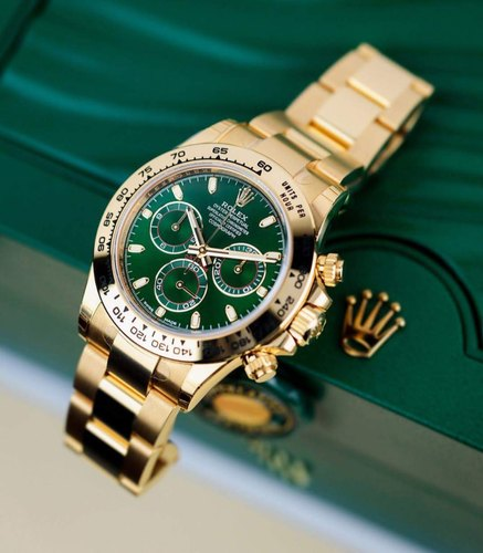 Cosmograph Daytona Gold Green Dial Swiss Automatic Watch