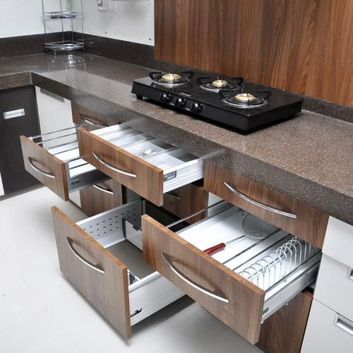 Silver Stainless Steel Modular Kitchen Cabinet Basket Rs 1000 Unit Id 22291628112