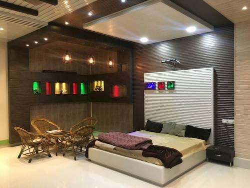 Frp Bedroom Wooden Ceiling