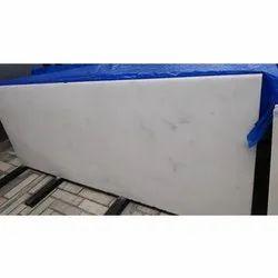 Polished Finish Rectangular White Marble Slab, Thickness: 15-20 mm