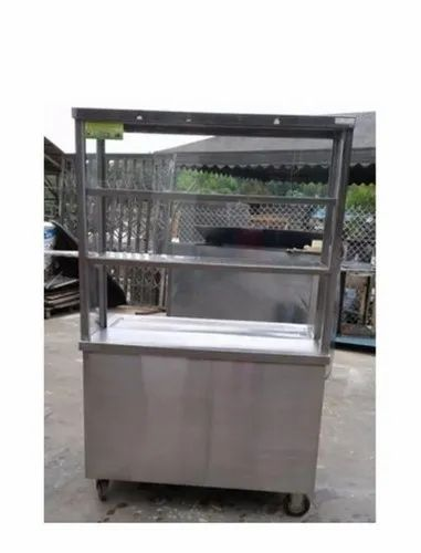 Metal Rectangular Snacks Counter for Commercial