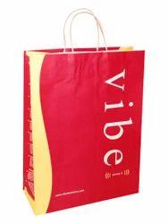 Red Printed Paper Bag