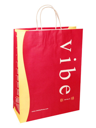 Red Printed Paper Bag