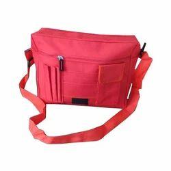 Red pvc College Sling Bag