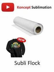 Subli Flock - Sublimation Printing on Black T Shirts