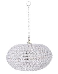 Designer Handmade Glass Lamp Metal And Crystal Chandelier