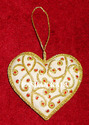 Heart Golden Christmas Decorative Hangings Ornaments, For Decoration, Size: Standard Size