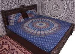 Blue Badmari Mandala Duvet Cover