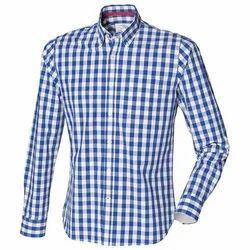 Mens Cotton Casual Check Shirt