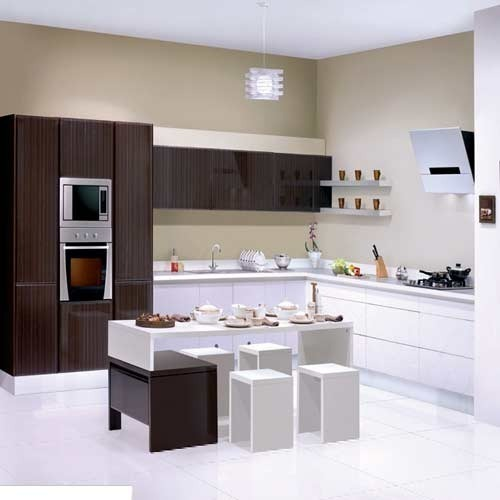 Modern Brown Designer Modular Kitchen, Rs 250 /square Feet