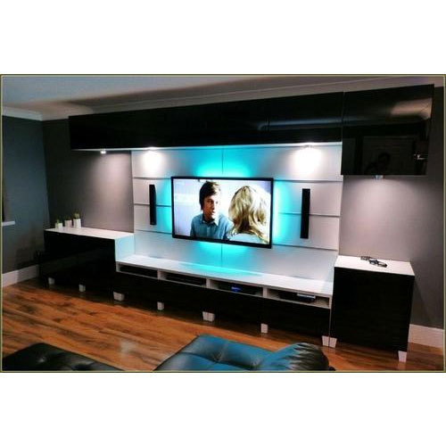 Black White Wall Mounted Led Tv Cabinet Dimensions 125 X 318 X