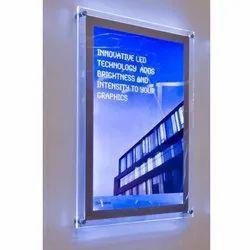 Crystal Led frame, Shape: Rectangular, For Use For Advertising