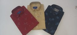 Carlo Satin Mens Printed Readymade Shirts