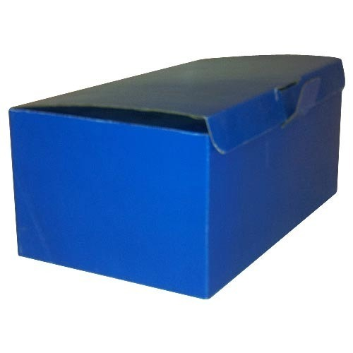 Blue Die Cut Packaging Box