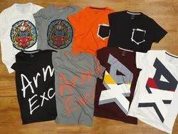 Cotton/Linen Round Printed Mens T-Shirt