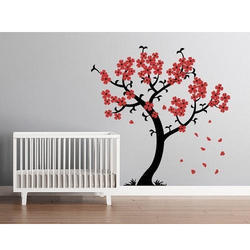 Red Black Tree Wall Painting Rs 5000