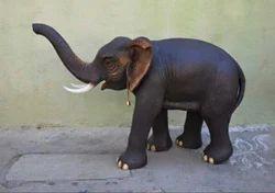 Realistic Elephant Statues Elephant Sculpture, Size/dimension: 2 Feet Hight