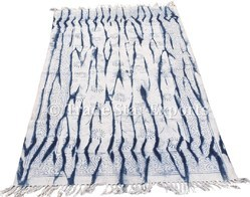 Indigo Hand Block Print Rug