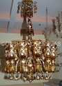 Contemporary And Traditional Glass Hand Painted Chandelier