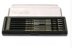 Tombow Mono-100 Black Lead Pencil Set Of 12 Pencils