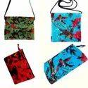 Bird Printed Velvet Bags