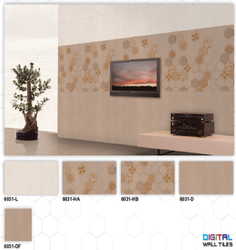 6031 (L, HA, HB, D, DF) Hexa Ceramic Digital Wall Tiles