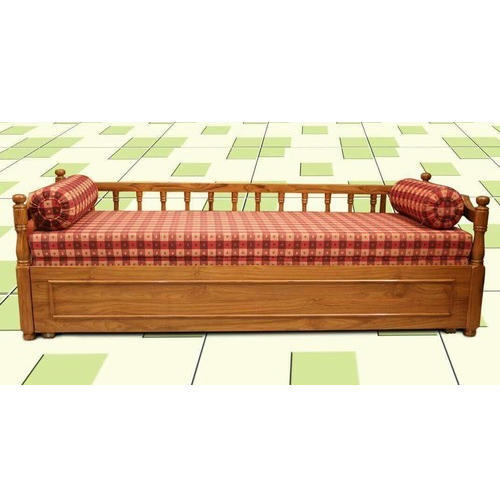 Surprising Brown Wooden Sofa Cum Bed Machost Co Dining Chair Design Ideas Machostcouk