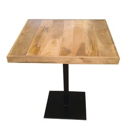 Garud Enterprises Brown Square Wooden Cafe Table, For Restaurant, Size: 75*75*75cm