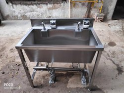 Ss 304 Foot Operated Wash Basin, For Hotel