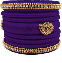 Purple Silk Thread Bangles Set