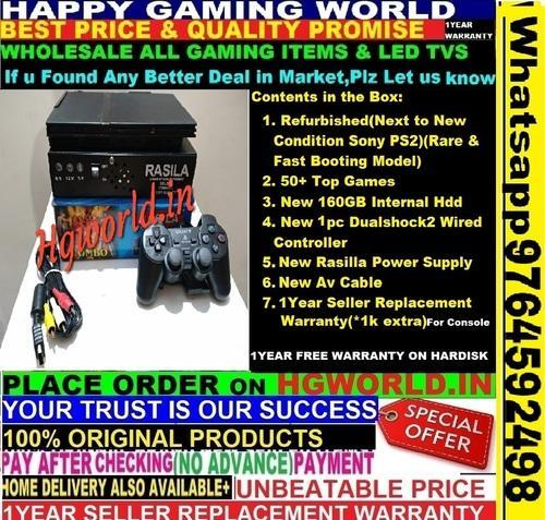 Sony Ps2 160gb Hdd 51top Games Complete Set(best Price&quality Promise)