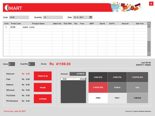 Point of Sale Software (POS Software) - Expert Software Systems