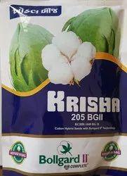 Printed medium and high piyat KRISH 205 BG-II COTTON SEEDS, For Agriculture, 475 Gms