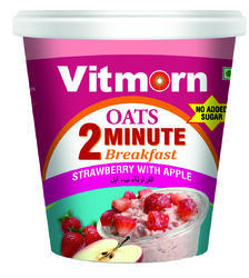 Instant Oats Strawberry with Apple Cup