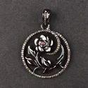 Pave Diamond Flower Pendant