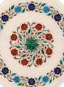 Antique Coffee Table Top Gems Marble Inlay Pietra Dura