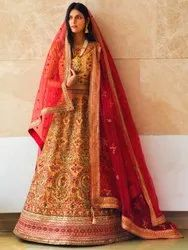 Women's Heavy Embroidery Net Bridal Lehenga Choli By Parvati Fabric (76647)