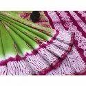 Vastrang Casual Pink And Green Chanderi Saree With Blouse