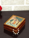 Hand Gemstone Painted Metal Wooden Wedding Gift Jewelry Box