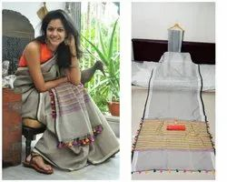 Ladies Fancy Linen Saree